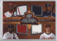 Quad Swatch Memorabilia - Prince Fielder, Ken Griffey Jr., David Ortiz, Nick Ma…