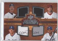 Quad Swatch Memorabilia - Randy Johnson, Conor Jackson, Chad Billingsley, James…