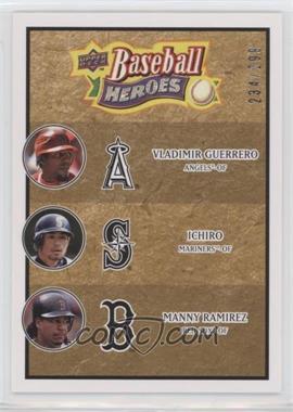 2008 Upper Deck Baseball Heroes - [Base] - Beige #186 - Vladimir Guerrero, Ichiro Suzuki, Manny Ramirez /299