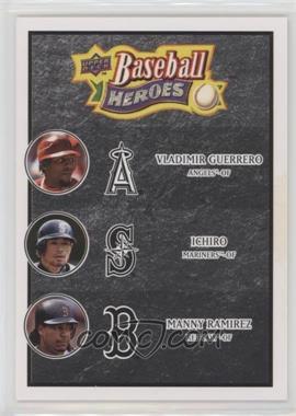 2008 Upper Deck Baseball Heroes - [Base] - Black #186 - Vladimir Guerrero, Ichiro Suzuki, Manny Ramirez