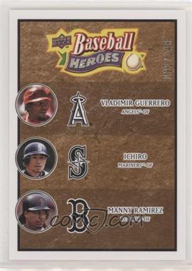 2008 Upper Deck Baseball Heroes - [Base] - Brown #186 - Vladimir Guerrero, Ichiro Suzuki, Manny Ramirez /149