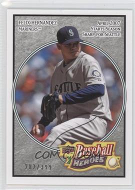 2008 Upper Deck Baseball Heroes - [Base] - Charcoal #153 - Felix Hernandez /399