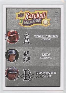 2008 Upper Deck Baseball Heroes - [Base] - Charcoal #186 - Vladimir Guerrero, Ichiro Suzuki, Manny Ramirez /399