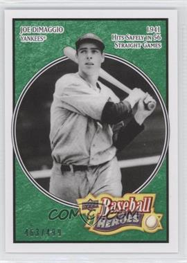 2008 Upper Deck Baseball Heroes - [Base] - Emerald #127 - Joe DiMaggio /499