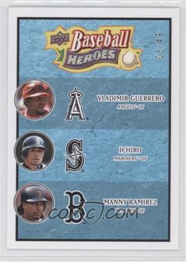 2008 Upper Deck Baseball Heroes - [Base] - Light Blue #186 - Vladimir Guerrero, Ichiro Suzuki, Manny Ramirez /49