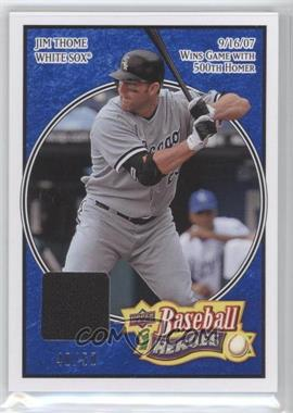 2008 Upper Deck Baseball Heroes - [Base] - Navy Blue Memorabilia #42 - Jim Thome /50