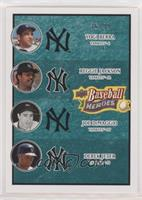 Yogi Berra, Reggie Jackson, Joe DiMaggio, Derek Jeter #/99