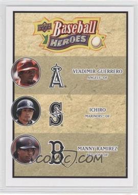 2008 Upper Deck Baseball Heroes - [Base] #186 - Vladimir Guerrero, Ichiro Suzuki, Manny Ramirez
