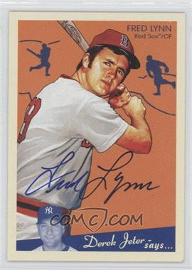 2008 Upper Deck Goudey - Graphs #GG-FL - Fred Lynn