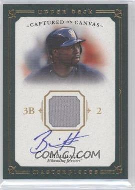 2008 Upper Deck Masterpieces - Captured on Canvas - Autograph Jerseys [Autographed] #CC-BH - Bill Hall