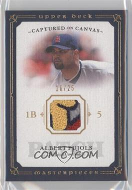 2008 Upper Deck Masterpieces - Captured on Canvas - Patch #CC-AP - Albert Pujols /25