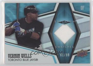 2008 Upper Deck Spectrum - Spectrum Swatches - Blue #SS-VW2 - Vernon Wells /99