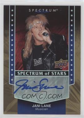 2008 Upper Deck Spectrum - Spectrum of Stars #SSS-JL - Jani Lane