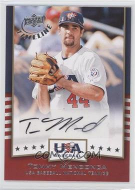 2008 Upper Deck Timeline - USA Baseball Signatures #USA-TM - Tommy Mendonca