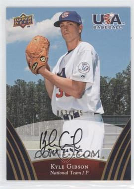 2008 Upper Deck USA Baseball Teams Box Set - [Base] - Gold Autographs [Autographed] #67 - Kyle Gibson /175
