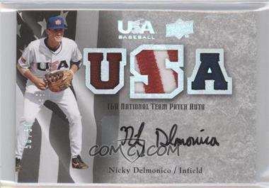 2008 Upper Deck USA Baseball Teams Box Set - Box Set 16U National Team Patch Auto #16PA-ND - Nicky Delmonico /50