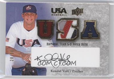 2008 Upper Deck USA Baseball Teams Box Set - Box Set National Team Game-Used Jersey - Black Ink Autographed [Autographed] #NT-KV - Kendal Volz /30