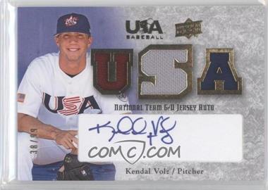 2008 Upper Deck USA Baseball Teams Box Set - Box Set National Team Game-Used Jersey - Blue Ink Autographed [Autographed] #NT-KV - Kendal Volz /99