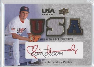 2008 Upper Deck USA Baseball Teams Box Set - Box Set National Team Game-Used Jersey - Red Ink Autographed [Autographed] #NT-CH - Chris Hernandez /25