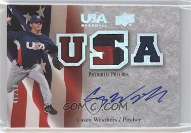 2008 Upper Deck USA Baseball Teams Box Set - Box Set Patriotic Patches Autographs #PPA-CW - Casey Weathers /50