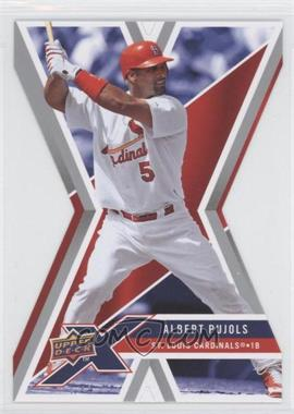 2008 Upper Deck X - [Base] - Die-Cut #91 - Albert Pujols