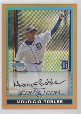 2009 Bowman - Chrome Prospects - Gold Refractor #BCP150 - Mauricio Robles /50