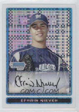 2009 Bowman - Chrome Prospects - X-Fractor #BCP128 - Efrain Nieves /250