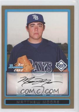 2009 Bowman - Prospects - Gold #BP7 - Matt Moore