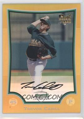 2009 Bowman Chrome - [Base] - Gold Refractor #192 - Trevor Cahill /50