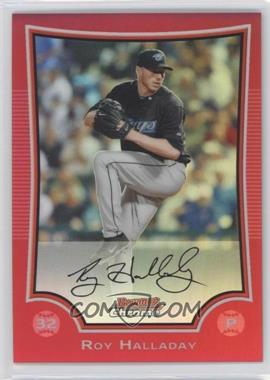 2009 Bowman Chrome - [Base] - Red Refractor #116 - Roy Halladay /5