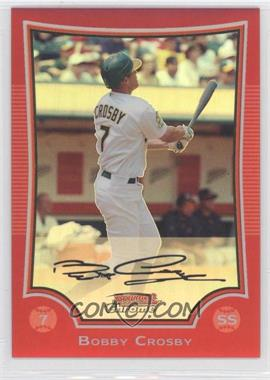 2009 Bowman Chrome - [Base] - Red Refractor #133 - Bobby Crosby /5