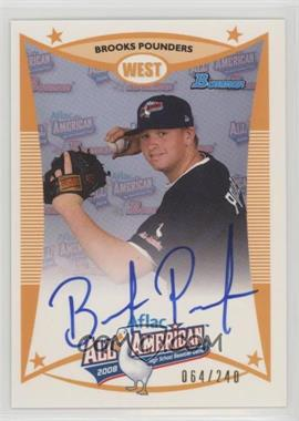 2009 Bowman Draft Picks & Prospects - Aflac All-American Autograph #AFLAC-BP - Brooks Pounders /240