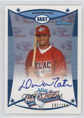 2009 Bowman Draft Picks & Prospects - Aflac All-American Autograph #AFLAC-DTA - Donavan Tate /244