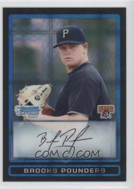 2009 Bowman Draft Picks & Prospects - Prospects Chrome - X-Fractor #BDPP11 - Brooks Pounders /199
