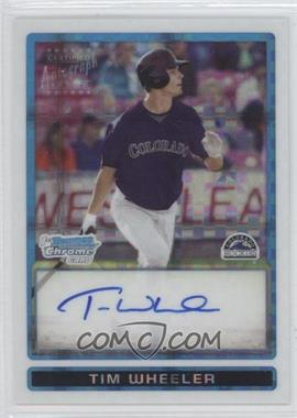 2009 Bowman Draft Picks & Prospects - Prospects Chrome - X-Fractor #BDPP78 - Tim Wheeler /225