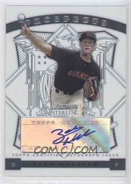 2009 Bowman Sterling - Prospects #BSP-ZW - Zack Wheeler