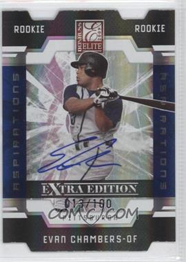 2009 Donruss Elite Extra Edition - [Base] - Aspirations Signatures [Autographed] #85 - Evan Chambers /100