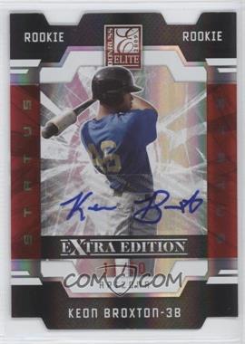 2009 Donruss Elite Extra Edition - [Base] - Status Signatures [Autographed] #114 - Keon Broxton /50