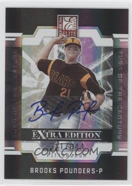 2009 Donruss Elite Extra Edition - [Base] - Turn of the Century Signatures [Autographed] #19 - Brooks Pounders /844