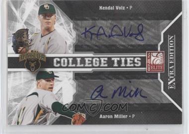 2009 Donruss Elite Extra Edition - College Ties - Signatures #9 - Kendal Volz, Aaron Miller /50