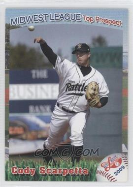 2009 Grandstand Midwest League Top Prospects - [Base] #N/A - Cody Scarpetta