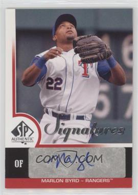 2009 SP Authentic - Signatures #S-BY - Marlon Byrd