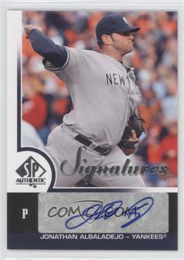 2009 SP Authentic - Signatures #S-JA - Jonathan Albaladejo