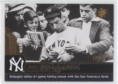 2009 SPx - Joe DiMaggio Career Highlights #JD-1 - Joe DiMaggio /425