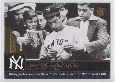 2009 SPx - Joe DiMaggio Career Highlights #JD-16 - Joe DiMaggio /425