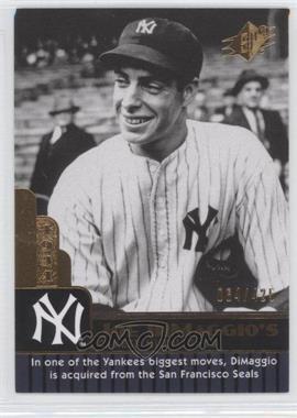 2009 SPx - Joe DiMaggio Career Highlights #JD-2 - Joe DiMaggio /425
