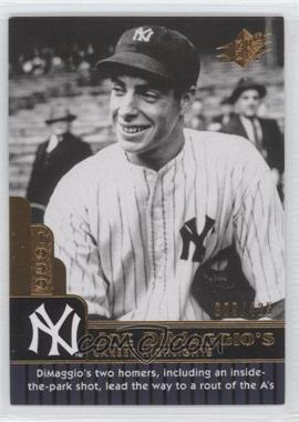 2009 SPx - Joe DiMaggio Career Highlights #JD-27 - Joe DiMaggio /425