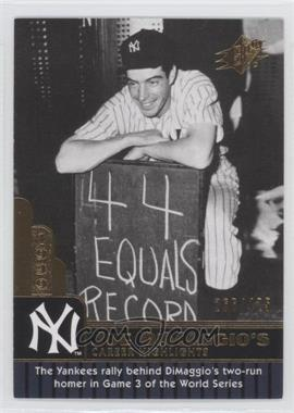 2009 SPx - Joe DiMaggio Career Highlights #JD-28 - Joe DiMaggio /425