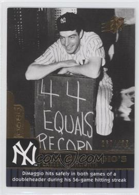 2009 SPx - Joe DiMaggio Career Highlights #JD-38 - Joe DiMaggio /425