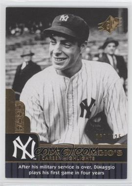 2009 SPx - Joe DiMaggio Career Highlights #JD-62 - Joe DiMaggio /425